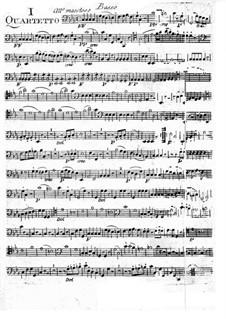 Six String Quartets: Parte contrabaixo by Giuseppe Maria Cambini