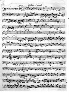 Six String Quartets: violino parte II by Giuseppe Maria Cambini