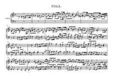 Fugue in C Major, BWV 946: para orgãos by Johann Sebastian Bach
