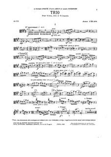 Trio for Strings in A Major: parte viola by Jean Cras