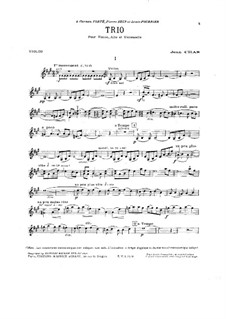 Trio for Strings in A Major: parte do violino by Jean Cras