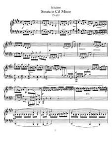 Sonata for Piano in C Sharp Minor, D.655: Allegro by Franz Schubert