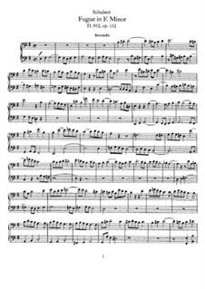 Fugue for Piano Four Hands in E Minor, D.952: primeira parte, segunda parte by Franz Schubert