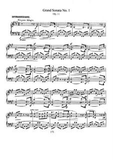 Sonata No.1 in F Sharp Minor, Op.11: Para Piano by Robert Schumann