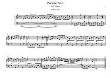 Five Preludes, BWV 939-943: Para Piano by Johann Sebastian Bach