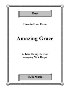 Amazing Grace: For horn and piano by folklore