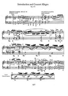 Concert Allegro with Introduction, Op.134: parte Solo by Robert Schumann
