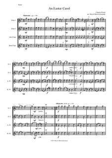 Easter Carol: para quarteto de flauta by Charles Wood