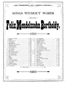 Songs without Words (Collection): Songs without Words (Collection) by Felix Mendelssohn-Bartholdy