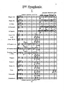 Symphony No.2 in F Sharp Minor, Op.16: partitura completa by Alexander Glazunov