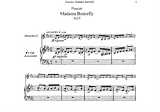 Madama Butterfly : Partitura Piano-vocal by Giacomo Puccini