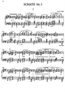 Sonata for Piano No.3, Op.23: para um único musico (Editado por H. Bulow) by Alexander Scriabin