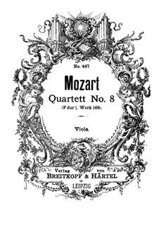 String Quartet No.8 in F Major, K.168: parte viola by Wolfgang Amadeus Mozart