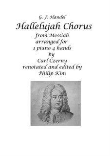 Joy to the World, for Piano: Version four hands by Georg Friedrich Händel