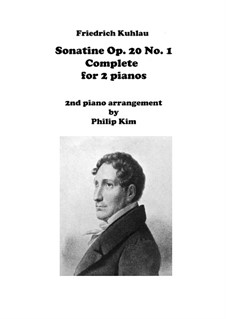Three Sonatinas for Piano, Op.20: Sonatine No.1, for two pianos by Friedrich Kuhlau