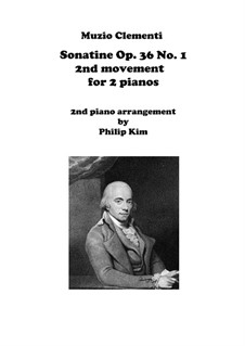 Sonatina No.1: Movement II, for two pianos by Muzio Clementi