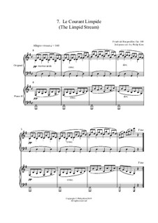 No.7 Le Courant Limpide (The Limpid Stream): para dois pianos by Johann Friedrich Burgmüller