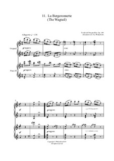 No.11 La Bergeronnette (The Sheperdess): para dois pianos by Johann Friedrich Burgmüller