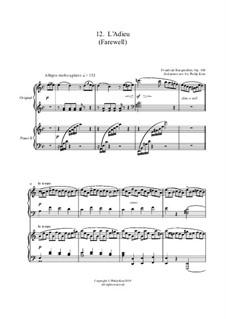 No.12 L'Adieu (Farewell): para dois pianos by Johann Friedrich Burgmüller