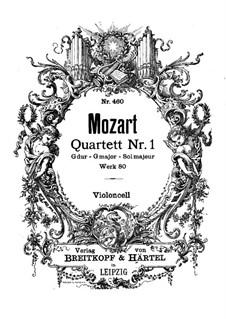 String Quartet No.1 in G Major, K.80/73f: parte violoncelo by Wolfgang Amadeus Mozart