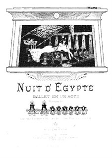 Egyptian Nights, Op.50: partitura para piano by Anton Arensky