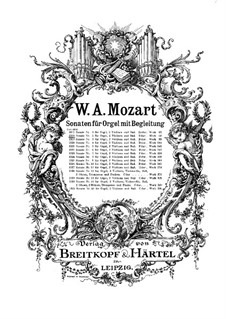 Church Sonata for Two Violins, Organ and Basso Continuo No.2 in B Flat Major, K.68: Partitura completa by Wolfgang Amadeus Mozart