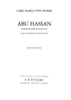 Abu Hassan, J.106: Partitura Piano-vocal by Carl Maria von Weber