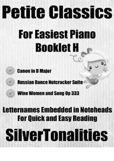 Petite Classics for Easiest Piano Booklet H: Petite Classics for Easiest Piano Booklet H by Johann Strauss (Sohn), Johann Pachelbel, Pyotr Tchaikovsky