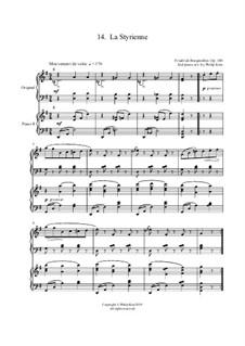 No.14 La Styrienne (Styrian Dance): para dois pianos by Johann Friedrich Burgmüller