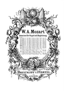 Church Sonata for Two Violins, Organ and Basso Continuo No.8 in A Major, K.225: Partitura completa by Wolfgang Amadeus Mozart