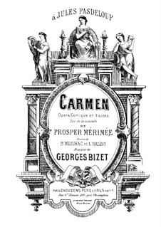 Complete Opera: partitura para piano by Georges Bizet