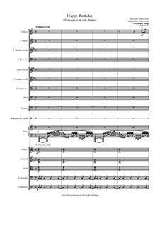 Happy Birthday to You: para orquestra de camara by Mildred Hill