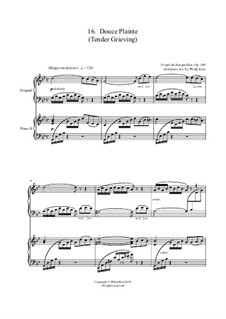 No.16 Douce Plainte (Lamentation): para dois pianos by Johann Friedrich Burgmüller