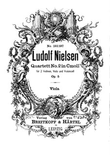 String Quartet No.2 in C Minor, Op.5: parte viola by Ludolf Nielsen