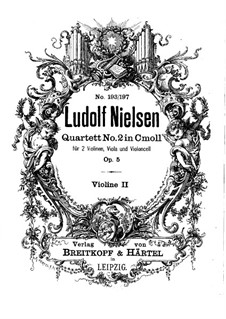 String Quartet No.2 in C Minor, Op.5: violino parte II by Ludolf Nielsen