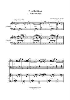 No.17 La Babillarde (Chatterbox): para dois pianos by Johann Friedrich Burgmüller