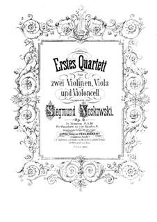 String Quartet No.1 in D Minor, Op.9: parte viola by Zygmunt Noskowski