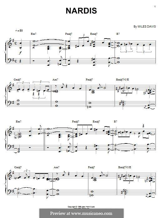 Nardis: Para Piano by Miles Davis