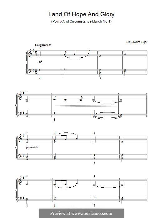 March No.1: Para Piano by Edward Elgar
