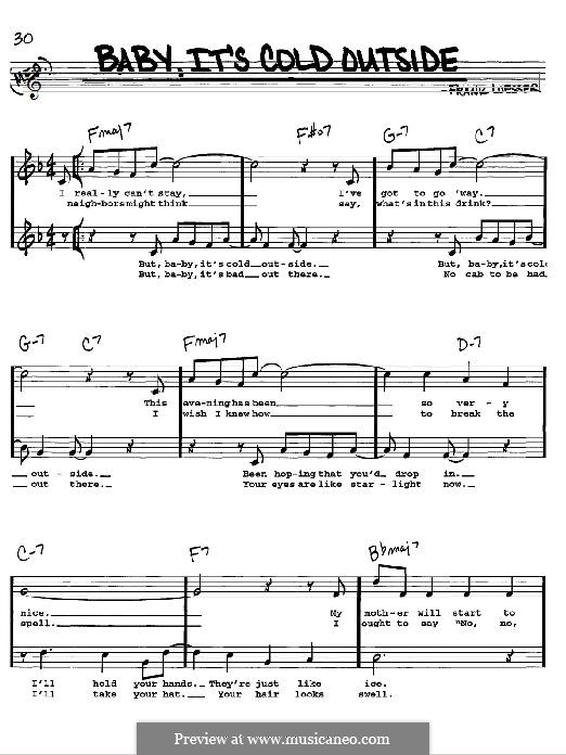 Baby, it's Cold Outside: For instrument in F by Frank Loesser