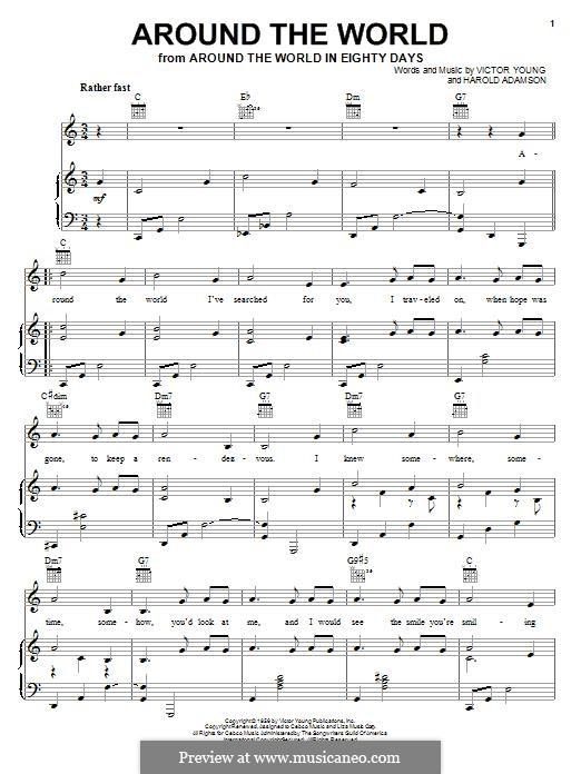 Around the World: Para vocais e piano (ou Guitarra) by Harold Adamson, Victor Young