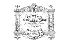 Four Pieces, Op.21, 62, 65, 72: para piano de quadro mãos by Carl Maria von Weber