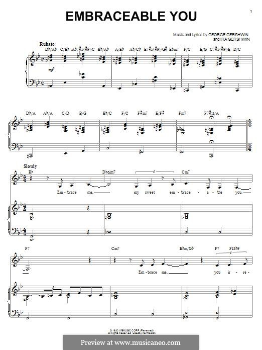 Embraceable You: For voice and piano (Ella Fitzgerald) by George Gershwin