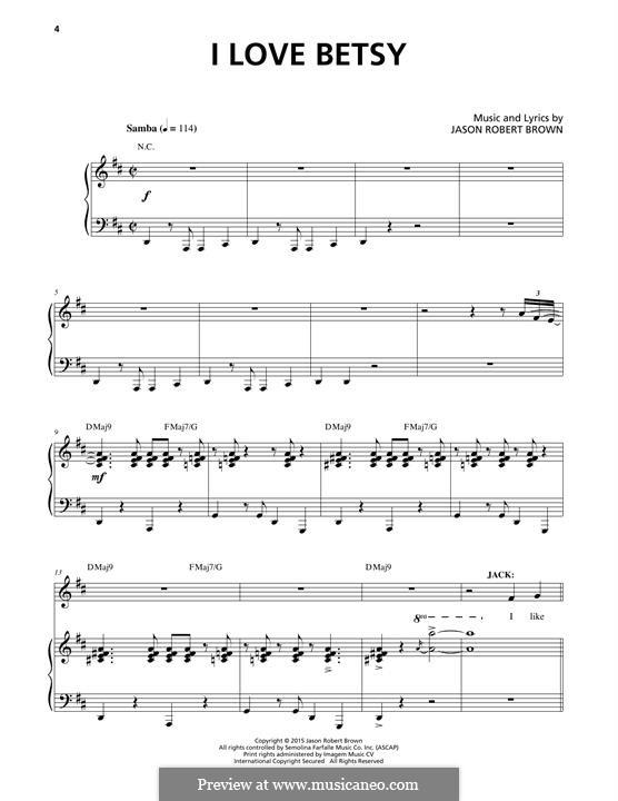 I Love Betsy: Para vocais e piano by Jason Robert Brown
