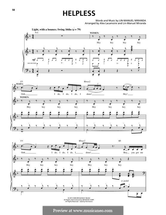 Helpless (Ashanti & Ja Rule): Para vocais e piano by Lin-Manuel Miranda