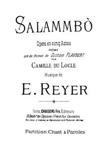 Salammbo: partituras de vocais by Ernest Reyer
