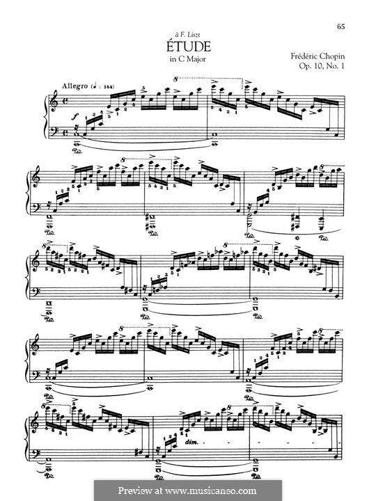 No.1 in C Major: Para Piano by Frédéric Chopin