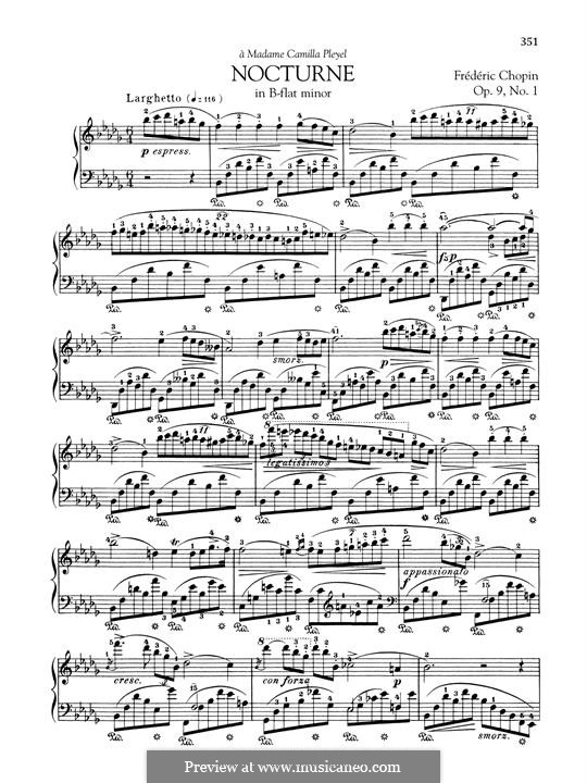 No.1 in B Flat Minor: Para Piano by Frédéric Chopin