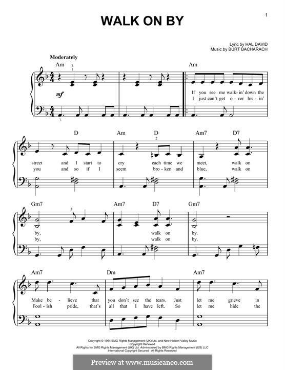 Walk on By: Para Piano by Burt Bacharach