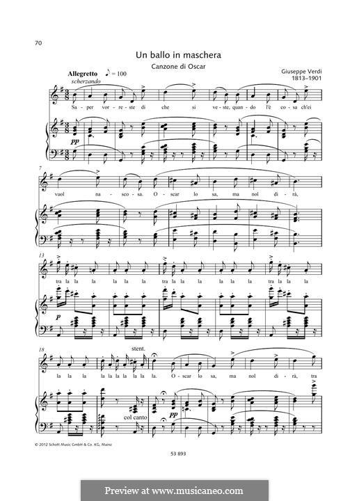 Saper vorreste di che si veste: Para vocais e piano by Giuseppe Verdi
